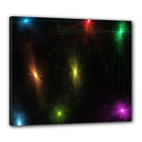 Star Lights Abstract Colourful Star Light Background Canvas 24  X 20