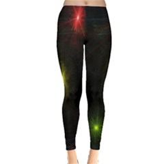 Star Lights Abstract Colourful Star Light Background Leggings