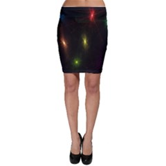 Star Lights Abstract Colourful Star Light Background Bodycon Skirt