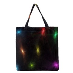 Star Lights Abstract Colourful Star Light Background Grocery Tote Bag