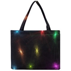 Star Lights Abstract Colourful Star Light Background Mini Tote Bag