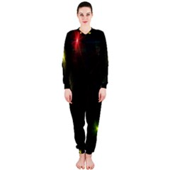 Star Lights Abstract Colourful Star Light Background OnePiece Jumpsuit (Ladies)