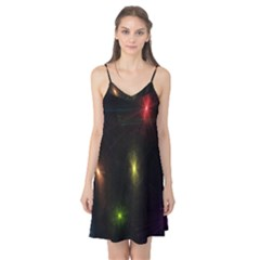 Star Lights Abstract Colourful Star Light Background Camis Nightgown