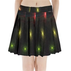 Star Lights Abstract Colourful Star Light Background Pleated Mini Skirt