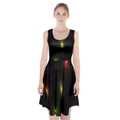 Star Lights Abstract Colourful Star Light Background Racerback Midi Dress