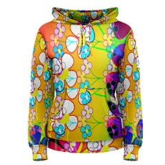 Abstract Flowers Design Women s Pullover Hoodie