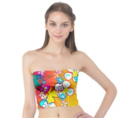 Abstract Flowers Design Tube Top