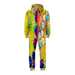 Abstract Flowers Design Hooded Jumpsuit (Kids)