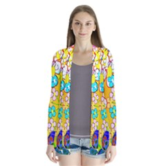 Abstract Flowers Design Cardigans