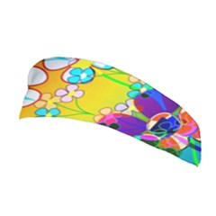 Abstract Flowers Design Stretchable Headband