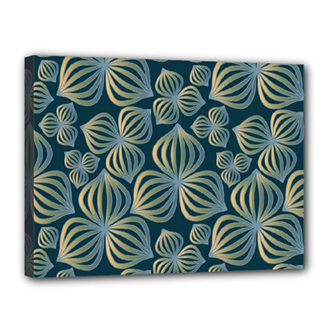 Gradient Flowers Abstract Background Canvas 16  x 12