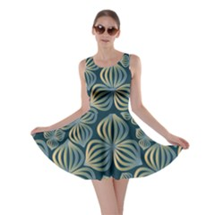 Gradient Flowers Abstract Background Skater Dress