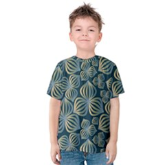 Gradient Flowers Abstract Background Kids  Cotton Tee