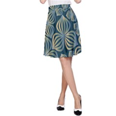 Gradient Flowers Abstract Background A-Line Skirt