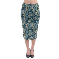 Gradient Flowers Abstract Background Midi Pencil Skirt