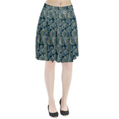 Gradient Flowers Abstract Background Pleated Skirt
