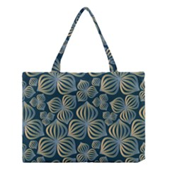 Gradient Flowers Abstract Background Medium Tote Bag