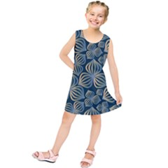 Gradient Flowers Abstract Background Kids  Tunic Dress