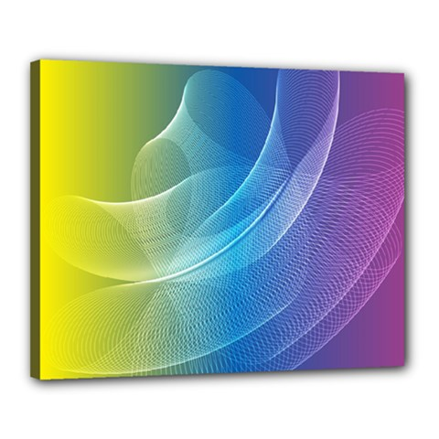 Colorful Guilloche Spiral Pattern Background Canvas 20  X 16