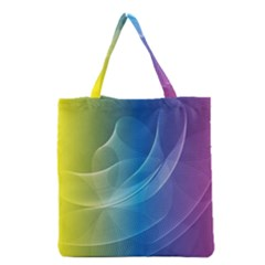 Colorful Guilloche Spiral Pattern Background Grocery Tote Bag