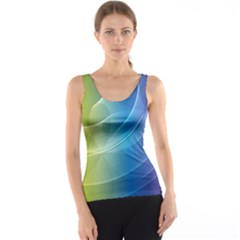 Colorful Guilloche Spiral Pattern Background Tank Top