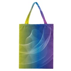Colorful Guilloche Spiral Pattern Background Classic Tote Bag