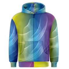 Colorful Guilloche Spiral Pattern Background Men s Zipper Hoodie