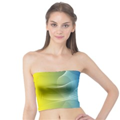 Colorful Guilloche Spiral Pattern Background Tube Top