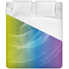 Colorful Guilloche Spiral Pattern Background Duvet Cover (california King Size)