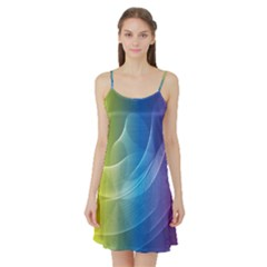 Colorful Guilloche Spiral Pattern Background Satin Night Slip