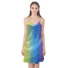 Colorful Guilloche Spiral Pattern Background Camis Nightgown
