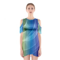 Colorful Guilloche Spiral Pattern Background Shoulder Cutout One Piece