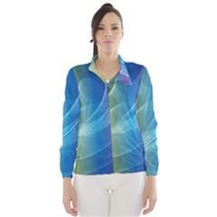 Colorful Guilloche Spiral Pattern Background Wind Breaker (women)