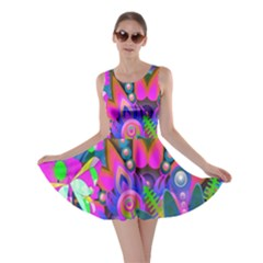 Wild Abstract Design Skater Dress