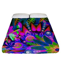 Wild Abstract Design Fitted Sheet (california King Size)