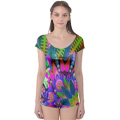 Wild Abstract Design Boyleg Leotard
