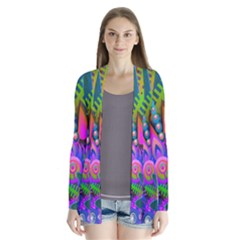 Wild Abstract Design Cardigans