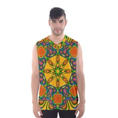Seamless Orange Abstract Wallpaper Pattern Tile Background Men s Basketball Tank Top