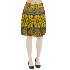 Seamless Orange Abstract Wallpaper Pattern Tile Background Pleated Skirt