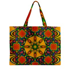 Seamless Orange Abstract Wallpaper Pattern Tile Background Medium Zipper Tote Bag