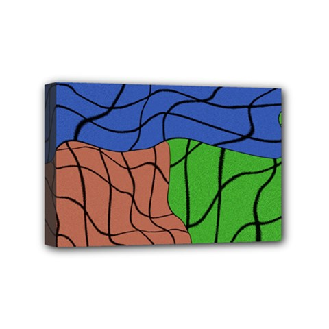 Abstract Art Mixed Colors Mini Canvas 6  x 4