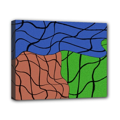 Abstract Art Mixed Colors Canvas 10  x 8