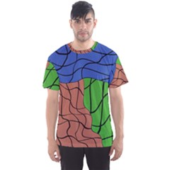 Abstract Art Mixed Colors Men s Sport Mesh Tee