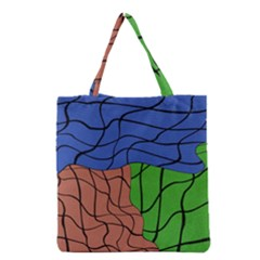 Abstract Art Mixed Colors Grocery Tote Bag