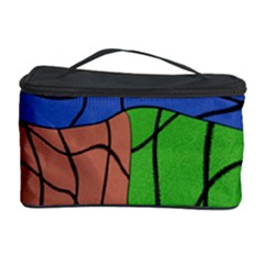 Abstract Art Mixed Colors Cosmetic Storage Case