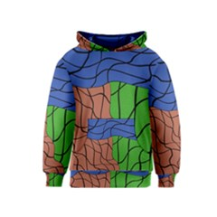 Abstract Art Mixed Colors Kids  Pullover Hoodie