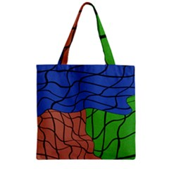 Abstract Art Mixed Colors Zipper Grocery Tote Bag