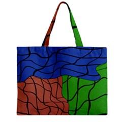 Abstract Art Mixed Colors Zipper Mini Tote Bag