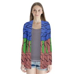 Abstract Art Mixed Colors Cardigans