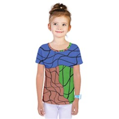 Abstract Art Mixed Colors Kids  One Piece Tee